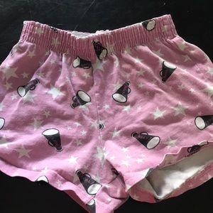 Soffe cheer shorts; small
